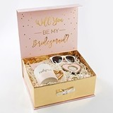 "Kate Aspen Pink and Gold ""Will You Be My Bridesmaid"" Kit"