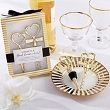 "Kate Aspen ""Cheers to a Great Combination"" Gold Wine Set"