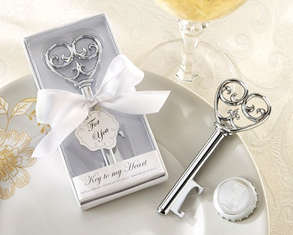 "Kate Aspen ""Simply Elegant"" Key To My Heart Bottle Opener"