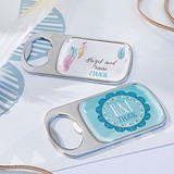 Boho Chic Designs Personalized Epoxy-Domed Chrome Bottle Openers