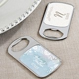 Personalized Silver Bottle Opener with Epoxy Dome - Ethereal Dream