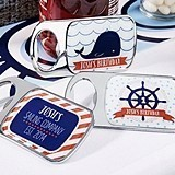 Nautical Birthday Personalized Epoxy-Domed Chrome Bottle Openers
