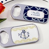 Personalized Epoxy-Domed Chrome Bottle Openers (Nautical Designs)