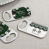 Romantic Garden Personalized Epoxy-Domed Chrome Bottle Openers
