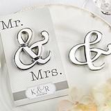 """Kate Aspen Personalized """"Mr. & Mrs."""" Ampersand Bottle Opener"""