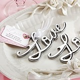 "Kate Aspen Chrome-Finish Script ""Love"" Bottle Opener"