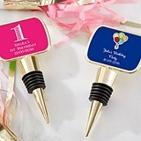 Kate Aspen Personalized Gold Bottle Stopper with Epoxy Dome - Birthday