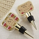 Kate Aspen Fall Designs Personalized Gold Bottle Stopper w/ Epoxy Dome