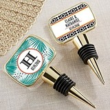 Kate Aspen Personalized 'Tropical Chic' Bottle Stopper with Epoxy Dome