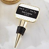 Kate Aspen Personalized 'Mr. & Mrs.' Bottle Stopper with Epoxy Dome
