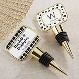 Personalized 'Modern Classic' Designs Bottle Stopper with Epoxy Dome