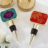 Kate Aspen Personalized Indian Jewel Bottle Stopper with Epoxy Dome
