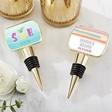 Kate Aspen Personalized 'Pineapples & Palms' Epoxy Dome Bottle Stopper