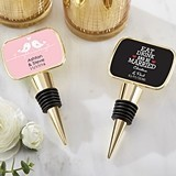 Kate Aspen Personalized Gold Bottle Stopper with Epoxy Dome - Wedding