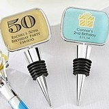 Kate Aspen Personalized Bottle Stopper with Epoxy Dome - Birthday