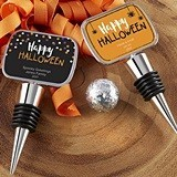 Halloween Designs Personalized Silver Bottle Stopper with Epoxy Dome