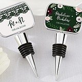 Personalized Romatic Garden Designs Bottle Stopper with Epoxy Dome