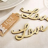Kate Aspen Script 'Love' Antique-Gold Bottle Opener