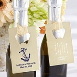 Personalized Gold-Metal Credit Card Bottle Opener (Wedding Designs)