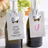 Personalized Silver-Metal Credit Card Bottle Opener (Wedding Designs)
