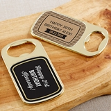 Personalized Gold Bottle Opener with Epoxy Dome - Boozy Birthday