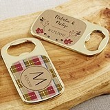 Personalized Gold Bottle Opener with Epoxy Dome - Fall Designs