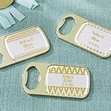 Personalized Gold Bottle Opener with Epoxy Dome (6 Gold Foil Designs)