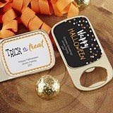 Personalized Gold Bottle Opener with Epoxy Dome - Halloween Designs