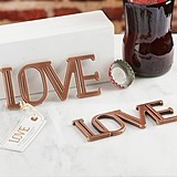 Kate Aspen Copper-Finish-Metal LOVE Bottle Opener
