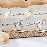 Kate Aspen Silver Seashell Place Card Holders (Set of 6)