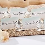 Kate Aspen Silver Seashell Place Card Holders (Set of 6)