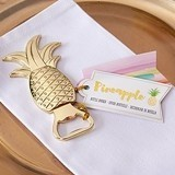 Kate Aspen Shining Gold-Metal Pineapple Motif Bottle Opener