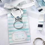 "Kate Aspen ""Something Blue"" Diamond Ring Key Ring"