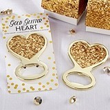 Kate Aspen Shining Gold Glitter Heart Bottle Opener