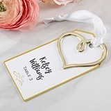 Kate Aspen Escort Cards with Golden Heart Charms (Set of 12)