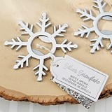 Kate Aspen Shining Silver Snowflake-Shaped Bottle Opener