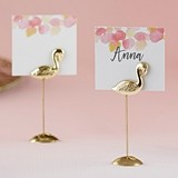 Kate Aspen Golden Flamingo Place Card Holders (Set of 6)