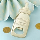 Kate Aspen Gold-Toned-Metal Baby Bottle-Shaped Bottle Opener