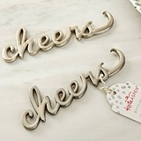 "Kate Aspen Script ""Cheers"" Silver-Metal Bottle Opener"