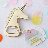 Kate Aspen Gold-Colored-Metal Unicorn Bottle Opener
