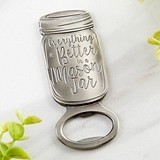 Kate Aspen Antique Silver Metal Mason Jar Shaped Bottle Opener