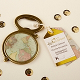 Kate Aspen Antique-Gold Globe with Vintage Map Bottle Opener