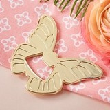 Kate Aspen Gold-Colored-Metal Butterfly-Shaped Bottle Opener
