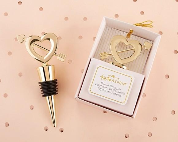 """Kate Aspen """"Cupid's Arrow"""" Gold-Metal Bottle Stopper"""