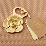 Kate Aspen Metallic Gold Rose Design Bottle Opener