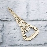 Kate Aspen Gold Eiffel Tower Bottle Opener with Raised Details