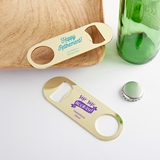 Kate Aspen Personalized Gold-Metal Oblong Bottle Opener - Celebration