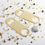 Kate Aspen Blank Gold-Metal Oblong Bottle Opener - DIY