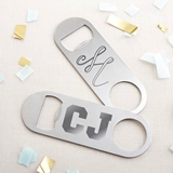 Kate Aspen Personalized Silver-Metal Oblong Bottle Opener - Engraved