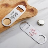 Kate Aspen Personalized Silver-Metal Oblong Bottle Opener - Wedding